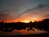 Sunset over Spruce Creek Fly In